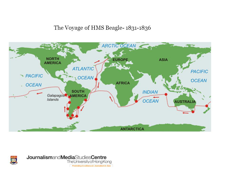 The Voyage of HMS Beagle- 1831-1836