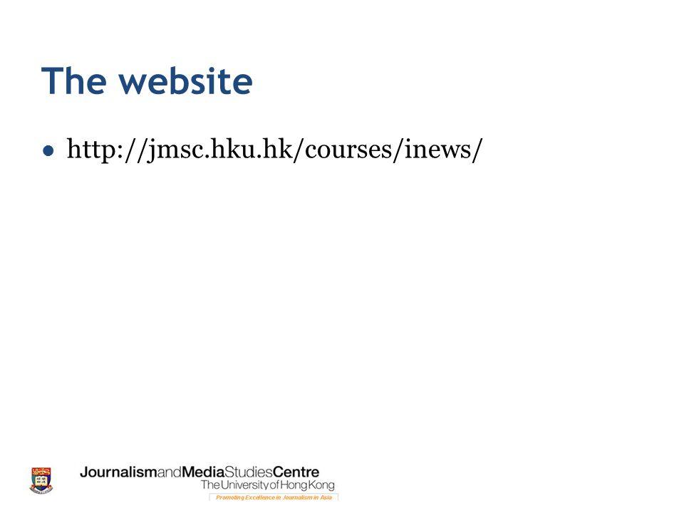 The website http://jmsc.hku.hk/courses/inews/