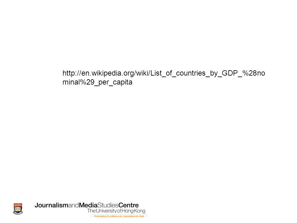 http://en.wikipedia.org/wiki/List_of_countries_by_GDP_%28no minal%29_per_capita