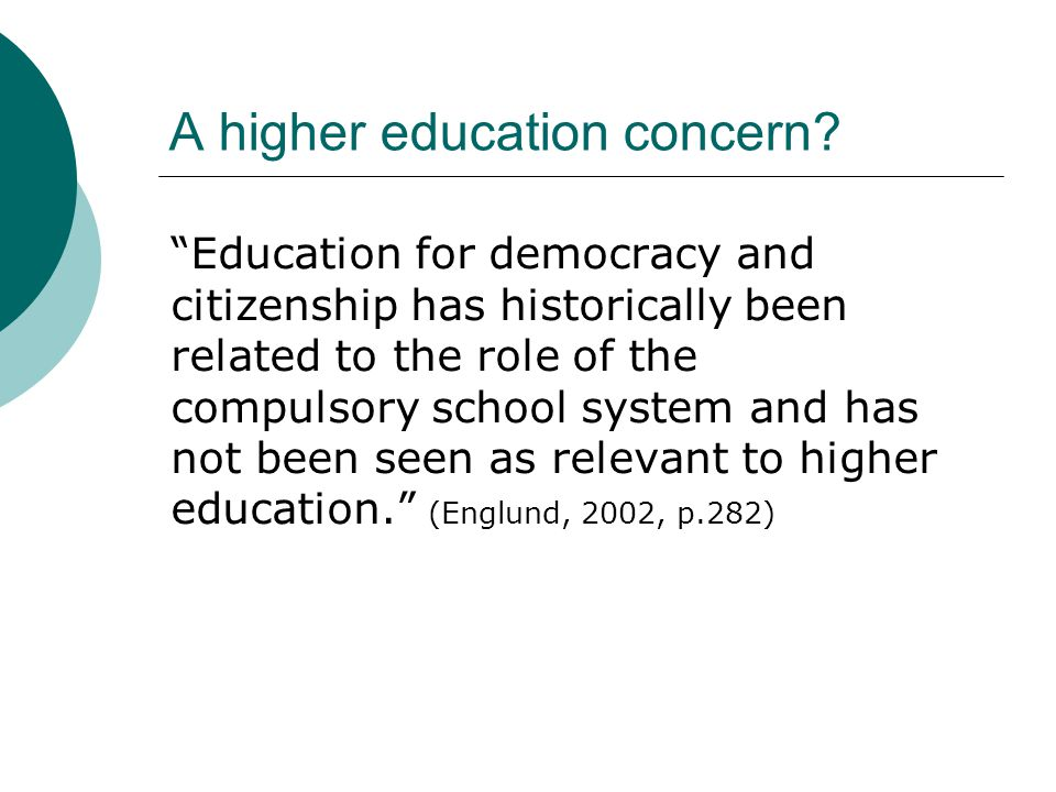 A higher education concern.