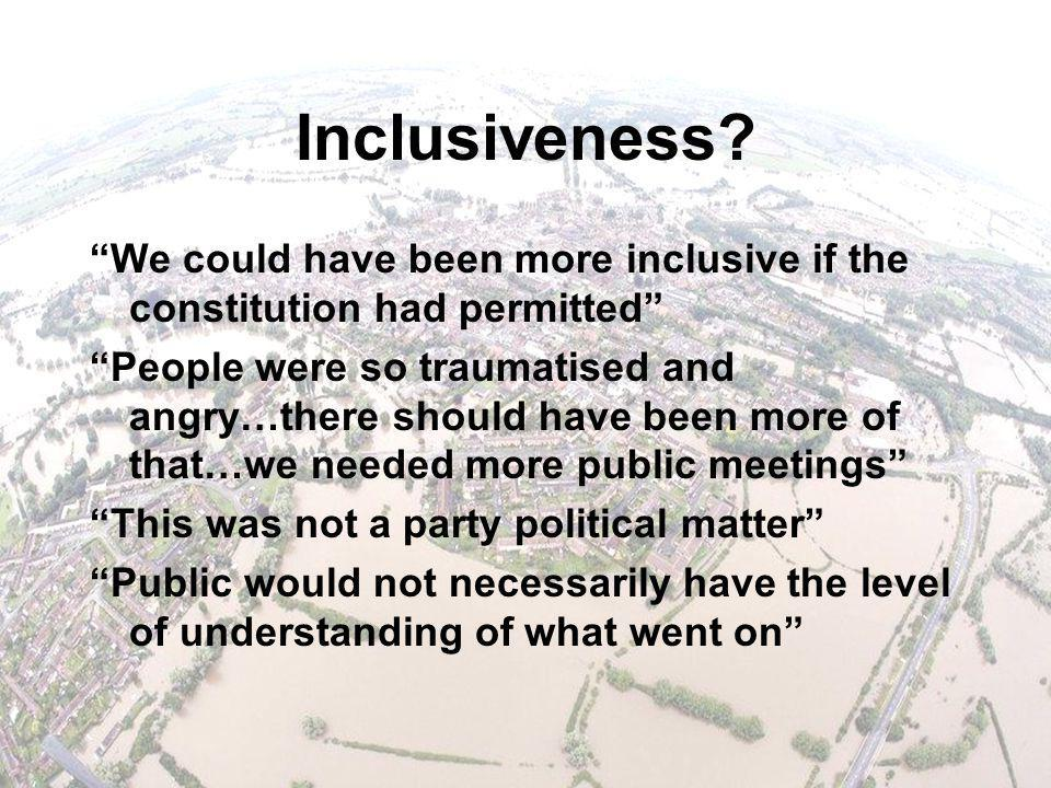 Inclusiveness.