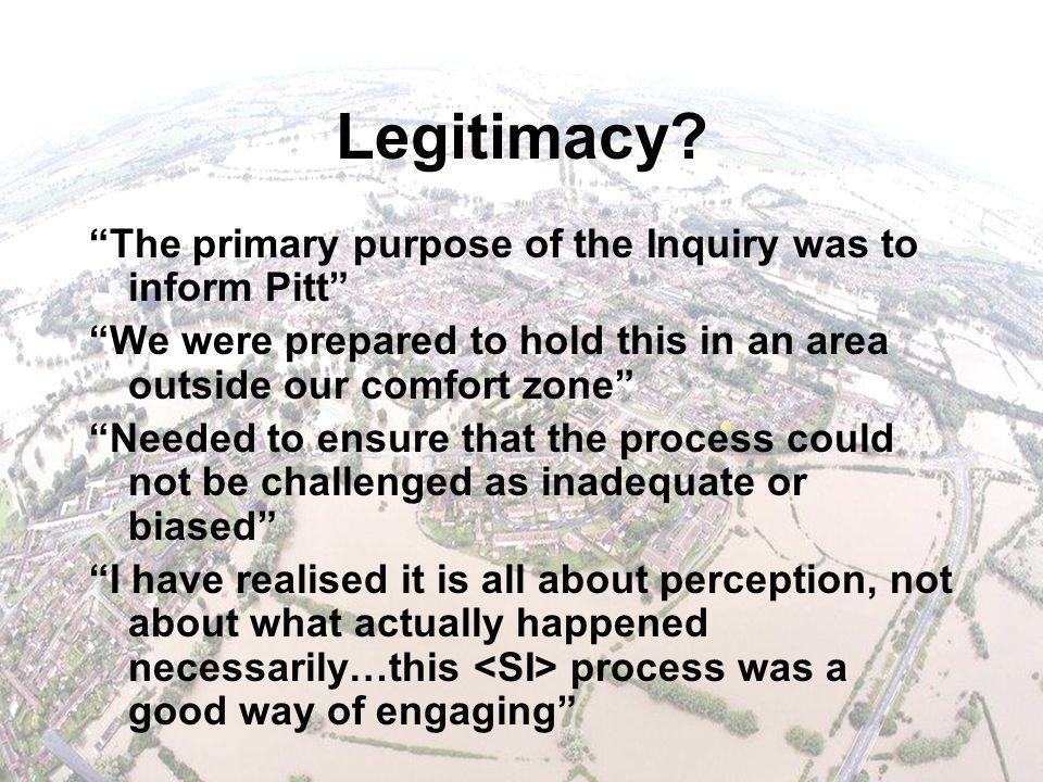 Legitimacy.