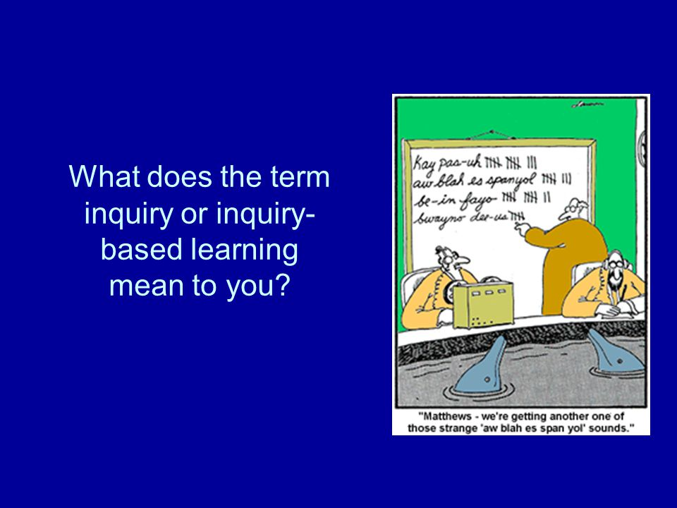 What does the term inquiry or inquiry- based learning mean to you
