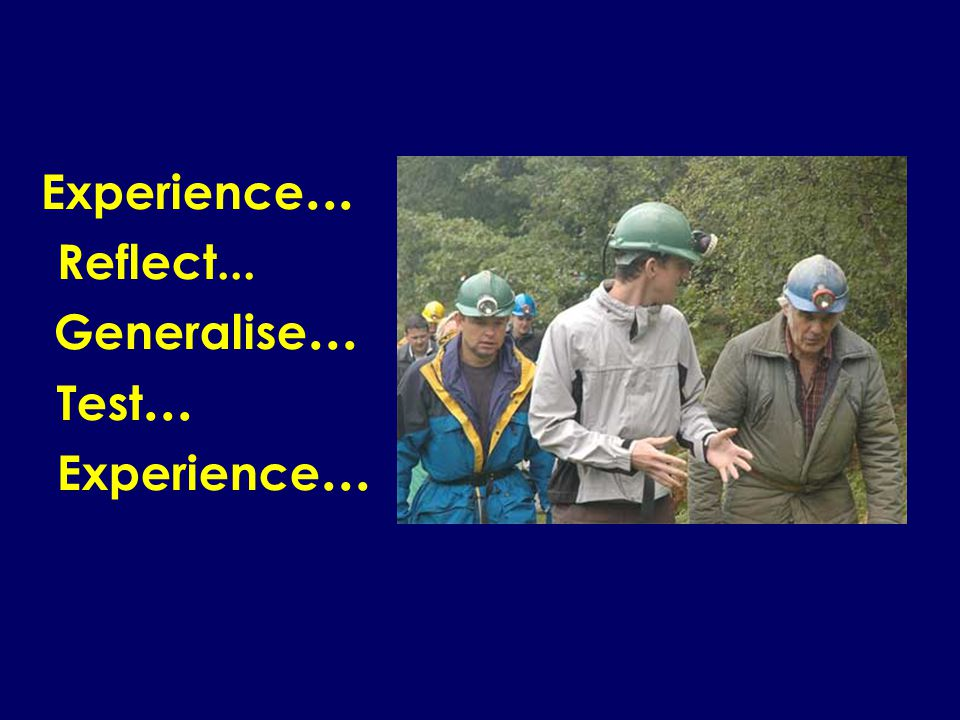 Experience... Reflect... Generalise... Test... Experience...