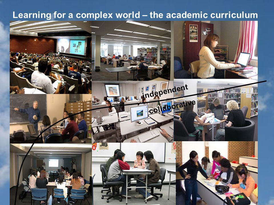 Learning for a complex world – the academic curriculum independent collaborative