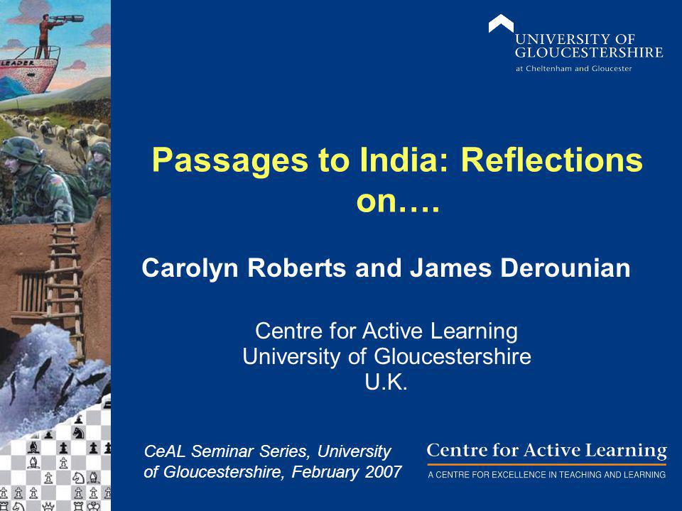 Passages to India: Reflections on….