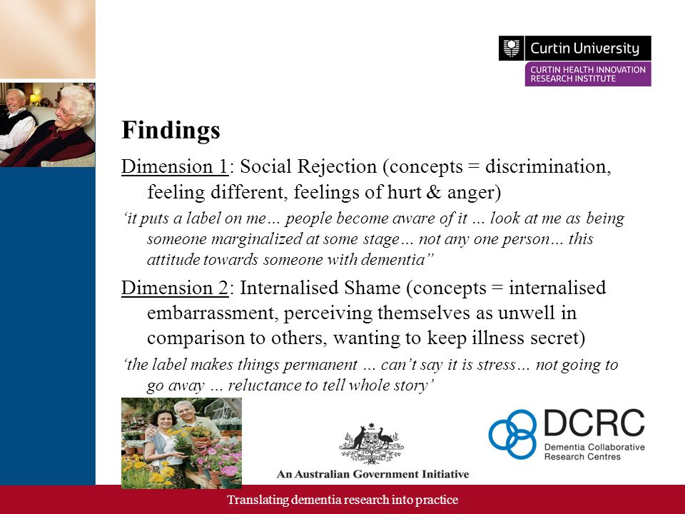 Translating dementia research into practice Contd.