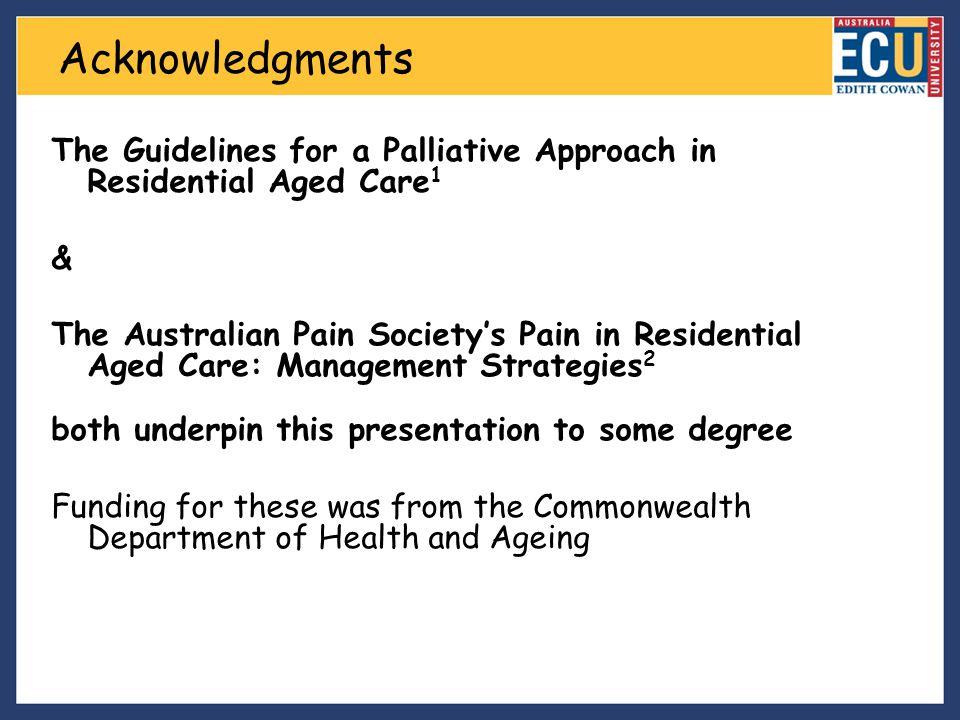 1)What is a palliative approach.