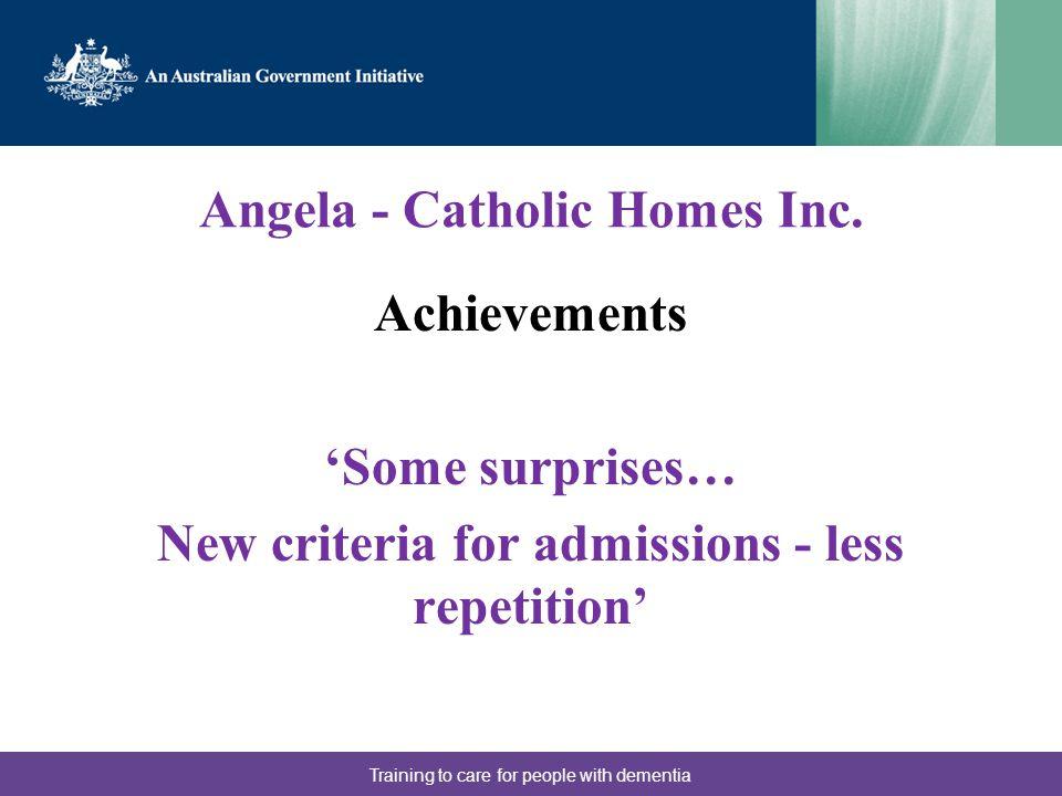 Angela - Catholic Homes Inc.