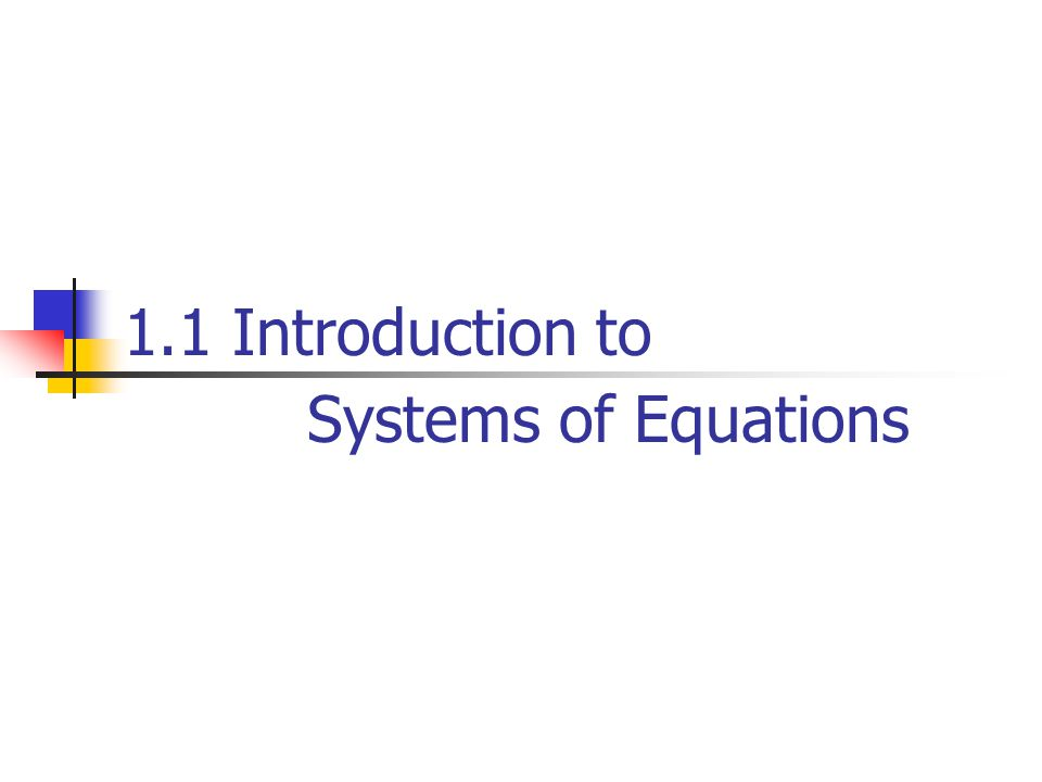 Linear Equations Any straight line in xy-plane can be represented algebraically by an equation of the form: General form: define a linear equation in the n variables : Where and b are real constants.
