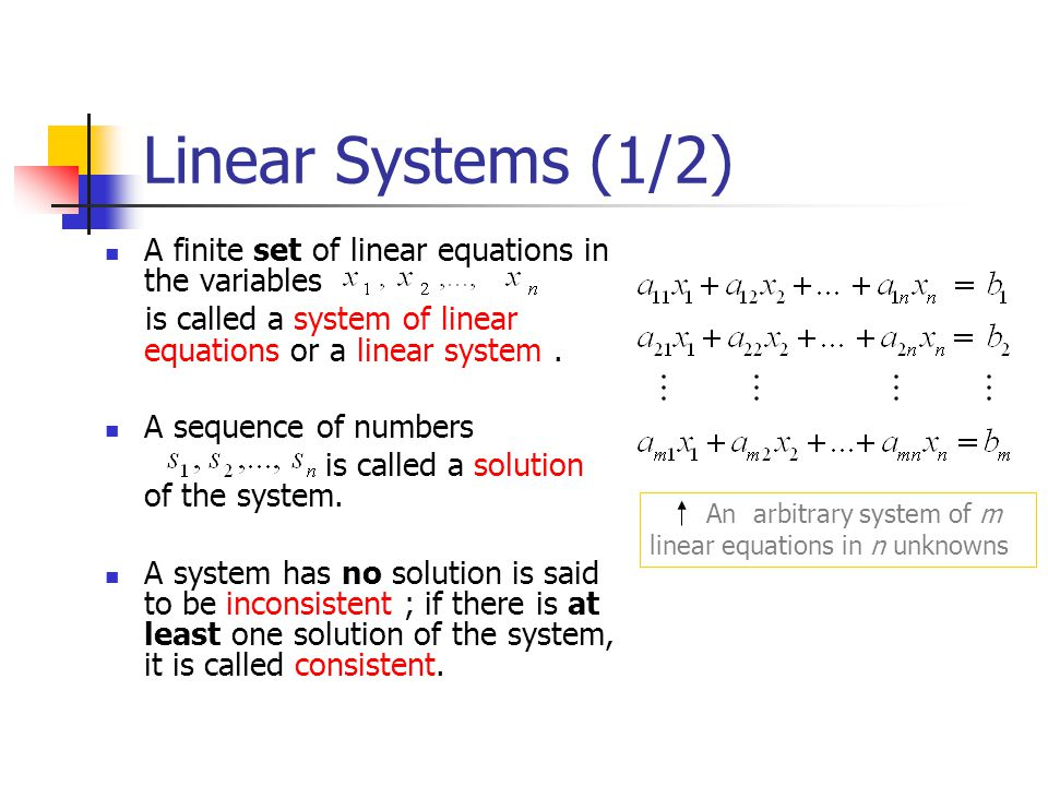 Matrix Products as Linear Combinations (2/2) In words, (10)tells us that the product A x of a matrix A with a column matrix x is a linear combination of the column matrices of A with the coefficients coming from the matrix x.