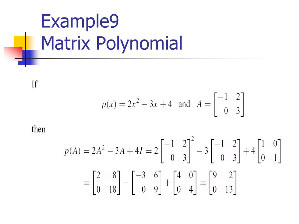 Example9 Matrix Polynomial