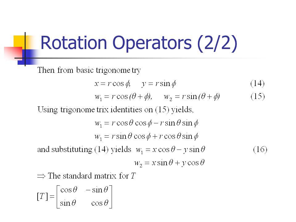 Rotation Operators (2/2)
