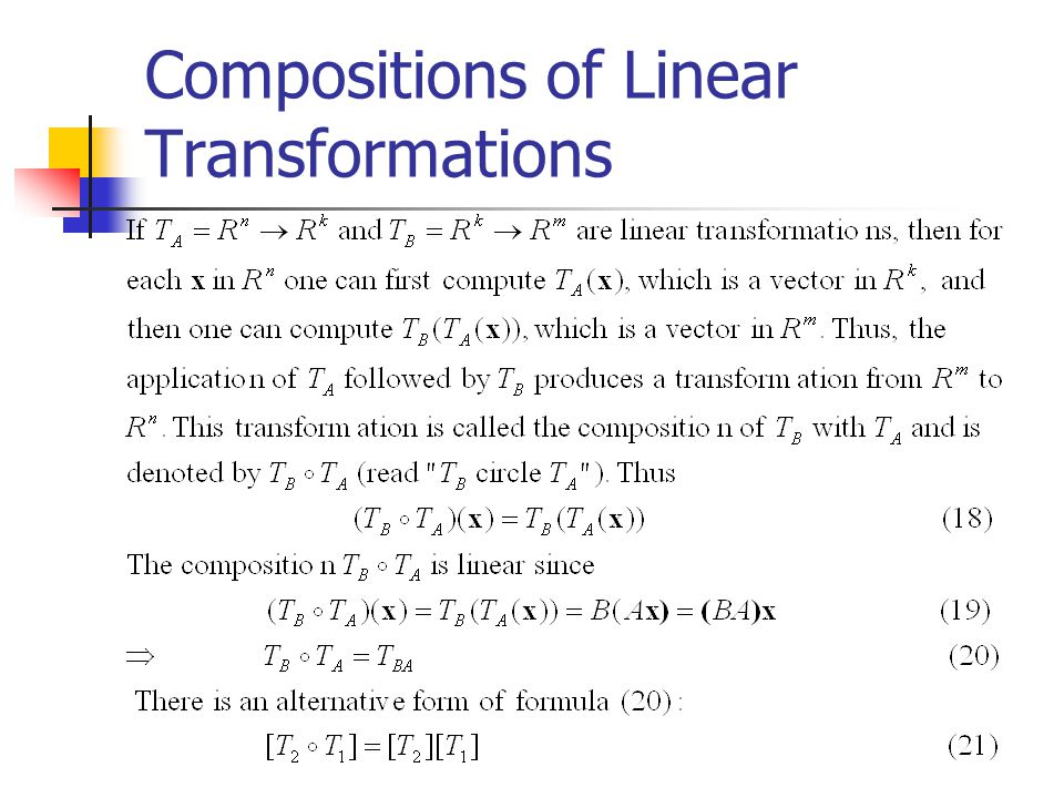 Compositions of Linear Transformations