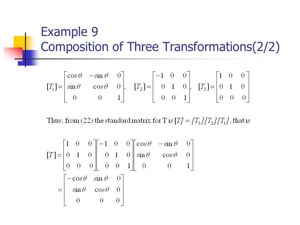 Example 9 Composition of Three Transformations(2/2)