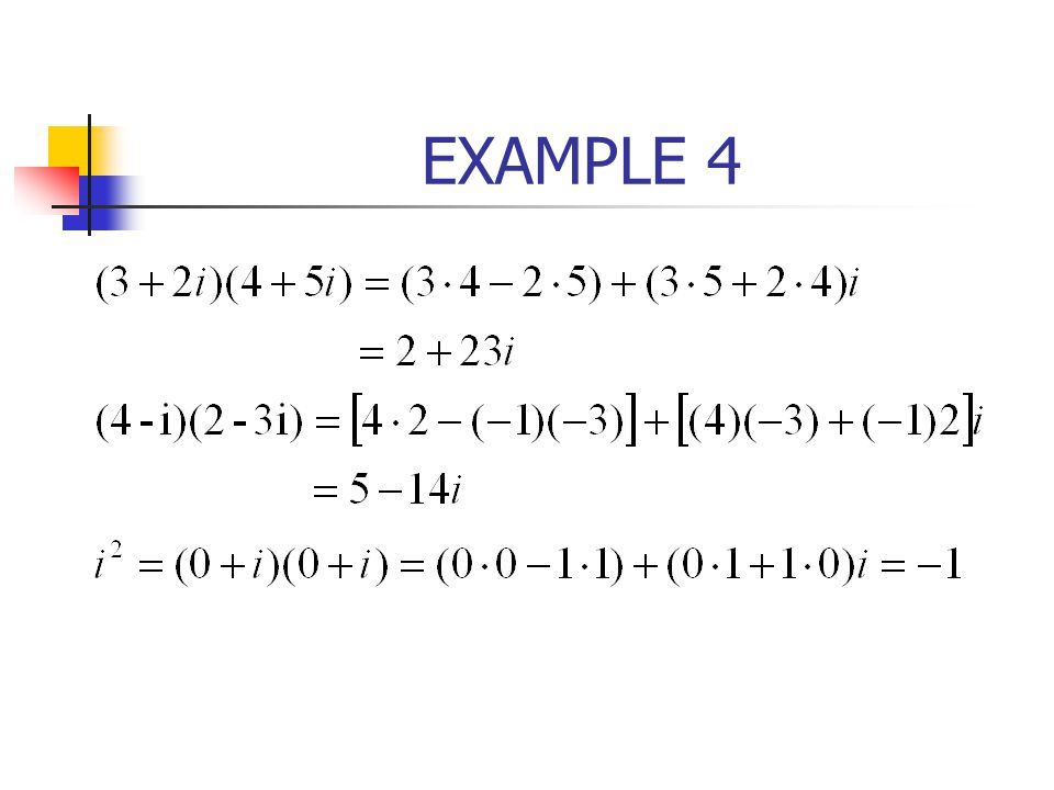 Example 3 From(10) with n=3 it follows that Thus, the cube roots of – 8 are
