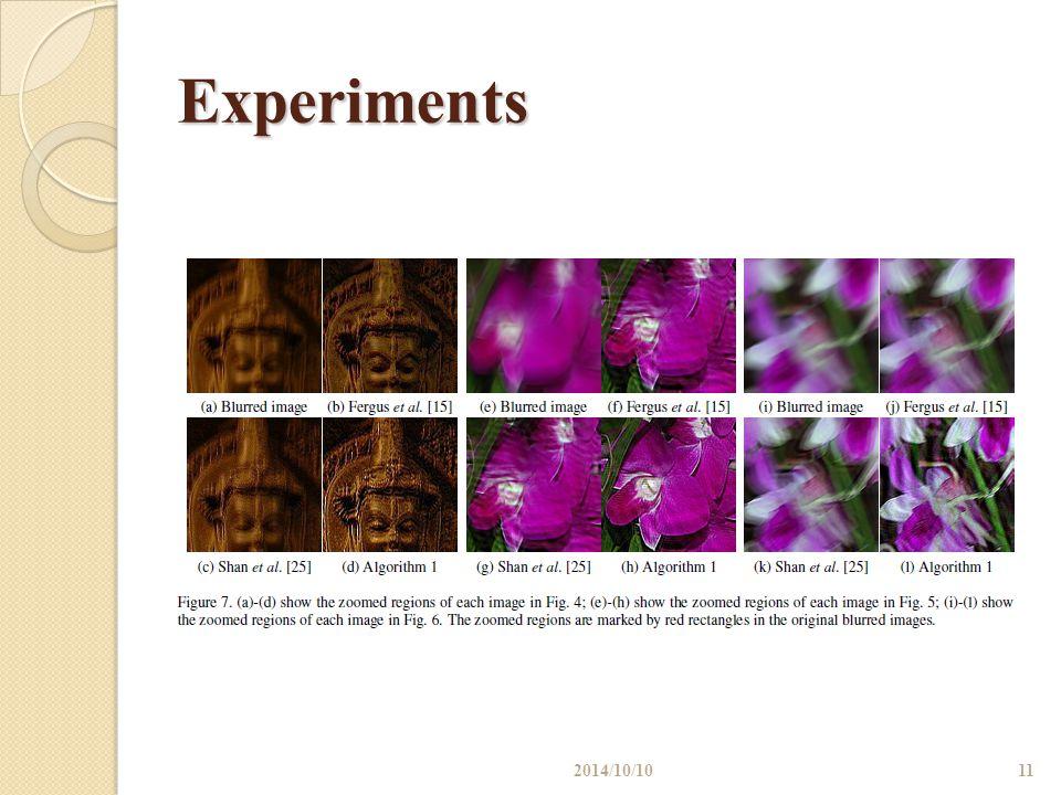 Experiments 2014/10/1011
