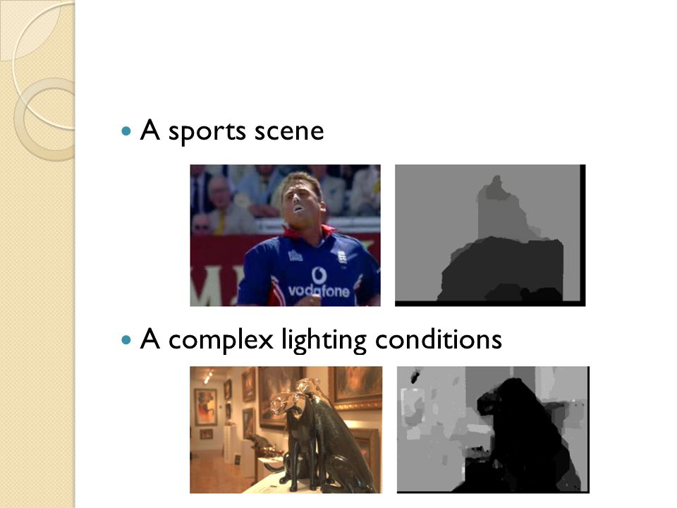 A sports scene A complex lighting conditions