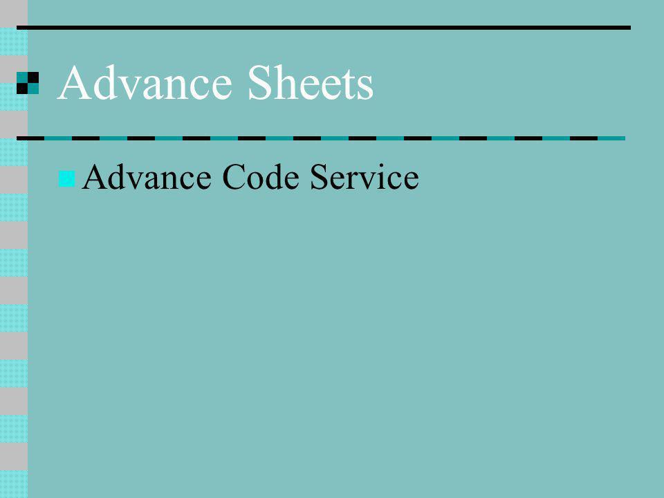 Advance Code Service