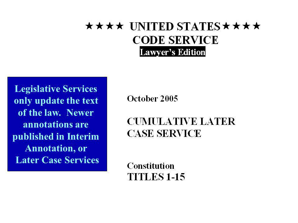 Legislative Services only update the text of the law.