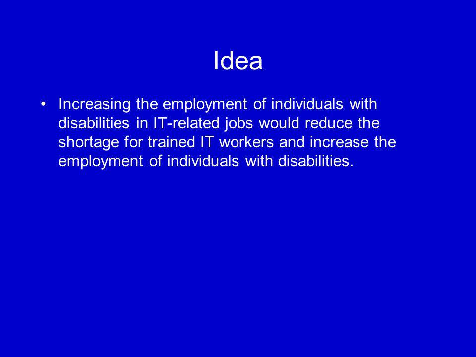 Research Question Are organizations with senior management who individually are aware of the needs of individuals with disabilities more successful in hiring, retaining, and advancing individuals with disabilities?