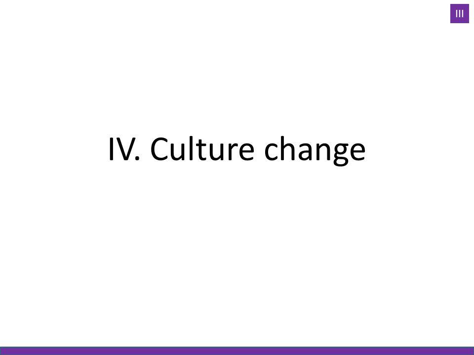 IV. Culture change III