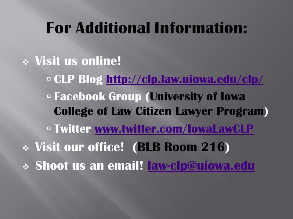  Visit us online.