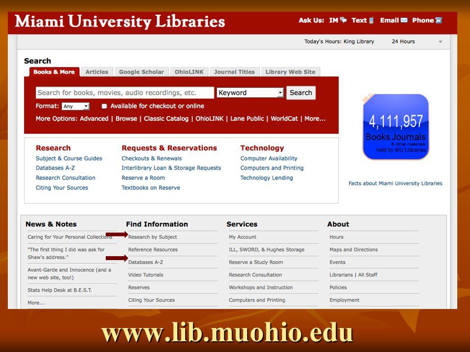 www.lib.muohio.edu