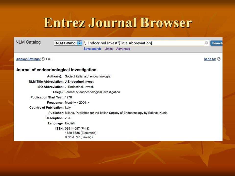 Entrez Journal Browser
