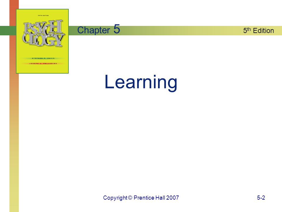 Copyright © Prentice Hall 20075-3 What is Learning.