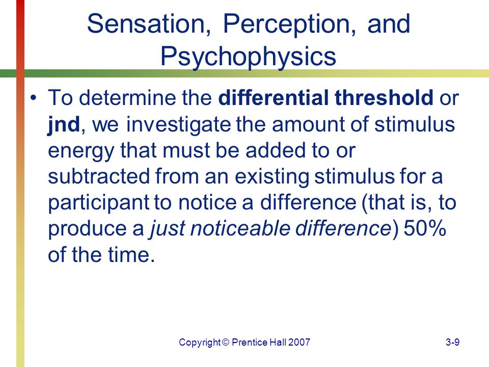 Copyright © Prentice Hall 20073-70 Sensory Systems One theory of pain, the gate control theory, has greatly influenced our understanding of pain.