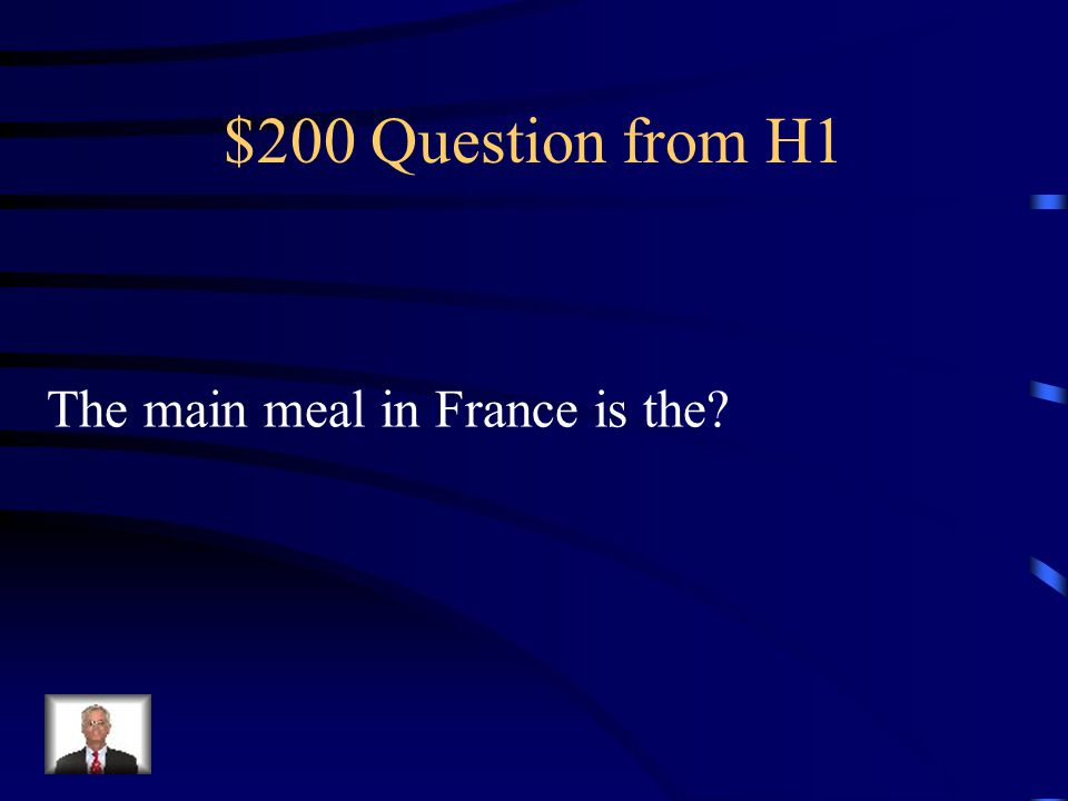$100 Answer from H1 le pétit déjeuner