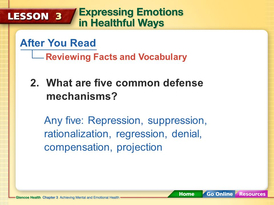 After You Read Reviewing Facts and Vocabulary 1.What are emotions? How can emotions affect your behavior? Emotions are signals that tell your mind and