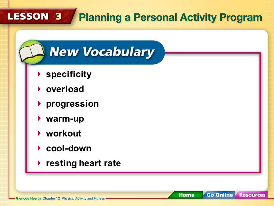 After You Read Reviewing Facts and Vocabulary Cost, where you live, schedule, fitness level, overall health, personal safety 1.What personal factors can affect your choice of physical activities?