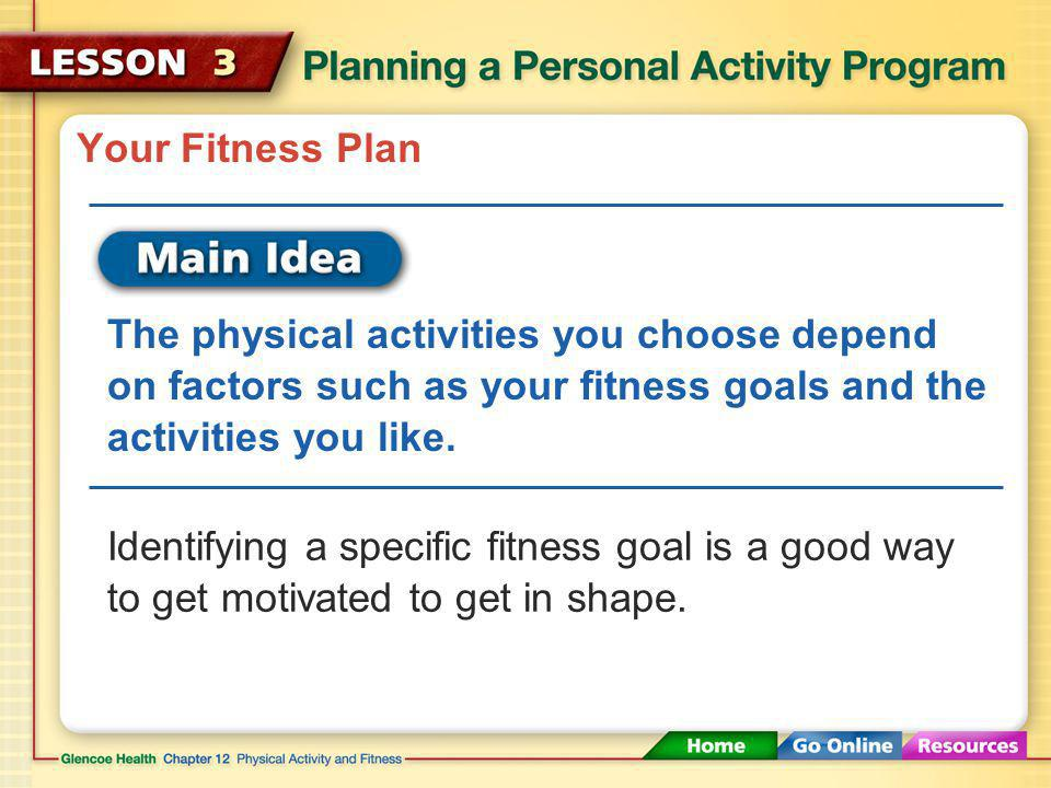 Workout Schedule at least three exercise sessions a week, but give your body time to rest between workouts.