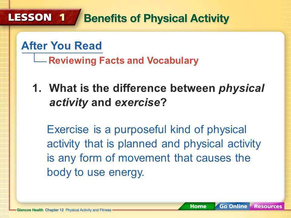 Making Time for Physical Activity By turning off the TV and getting out of the house for a little exercise, you can reduce your risk of health problem