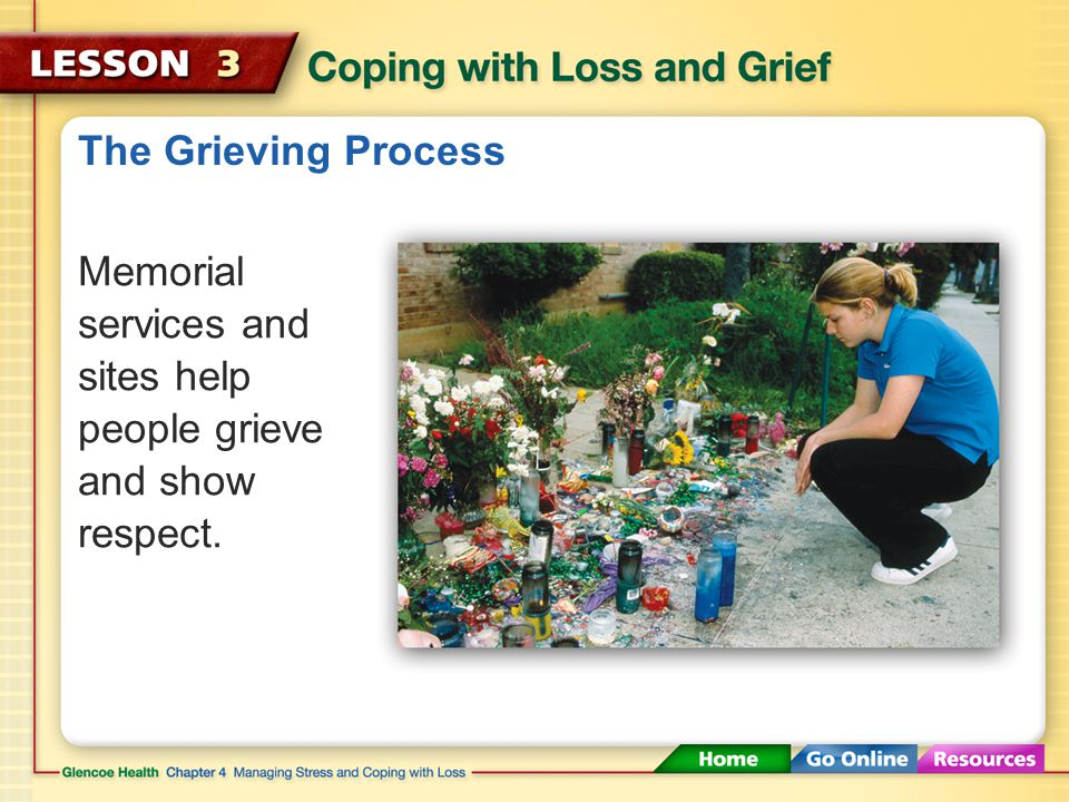The Grieving Process During the Hope stage of grief, remembering becomes less painful, and the person begins to look ahead to the future.