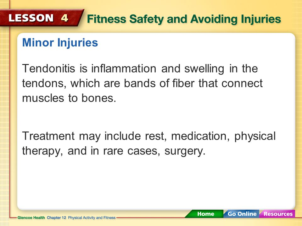Minor Injuries Ice the affected area for 10 to 15 minutes at a time, three times a day for two days after the injury.