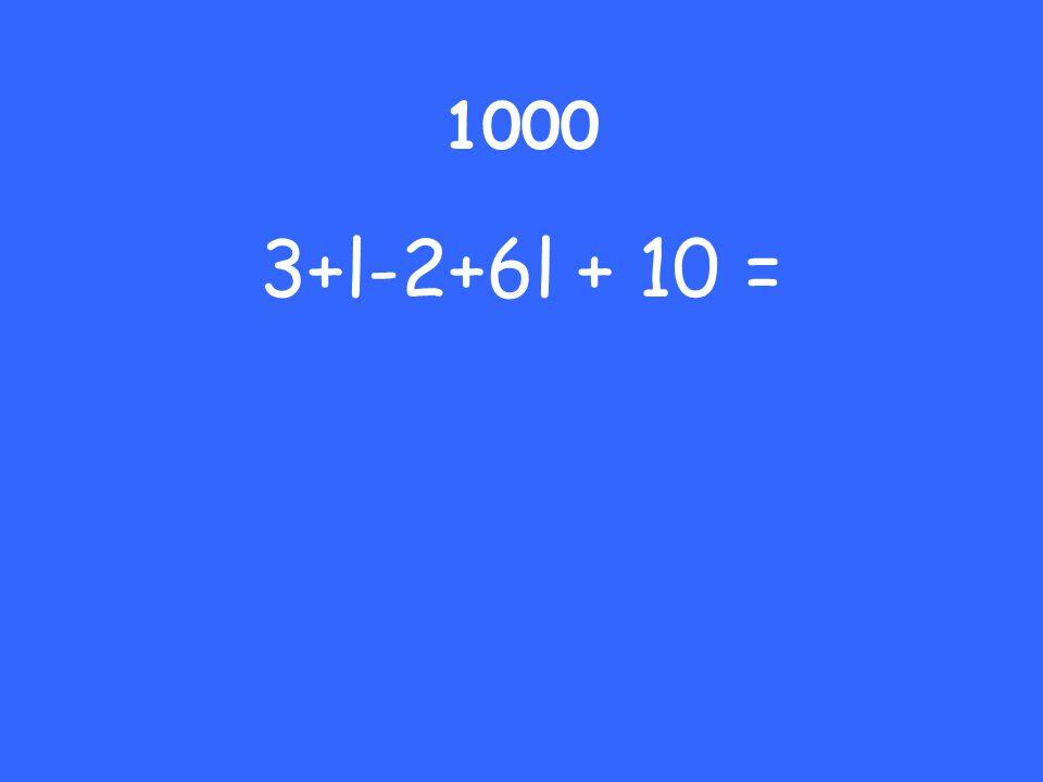 1000 3+l-2+6l + 10 =