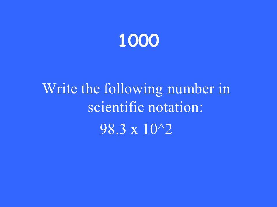 Answer: 4 x 10^3