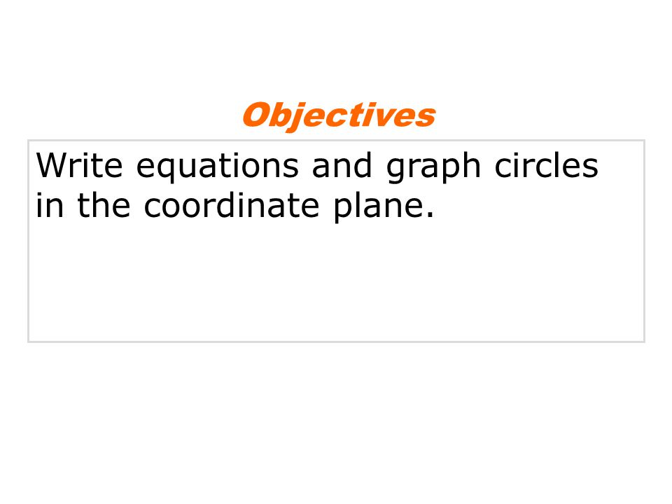 The equation of a circle is based on the Distance Formula and the fact that all points on a circle are equidistant from the center.