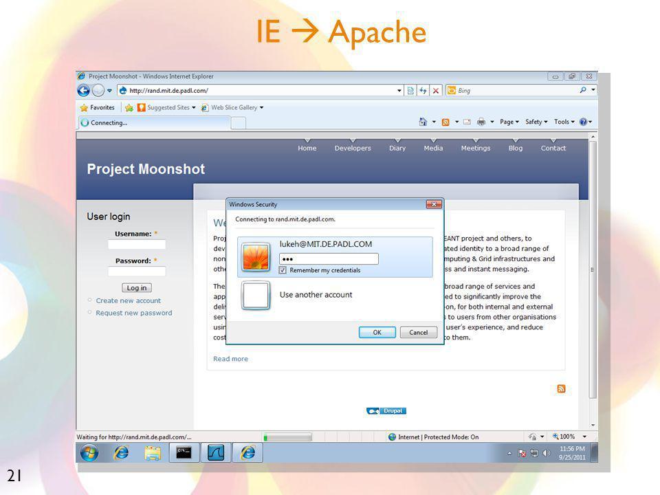 21 IE  Apache