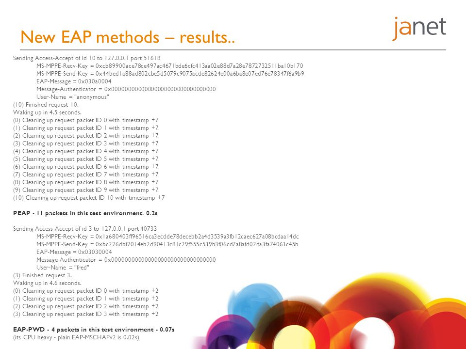 New EAP methods – results..