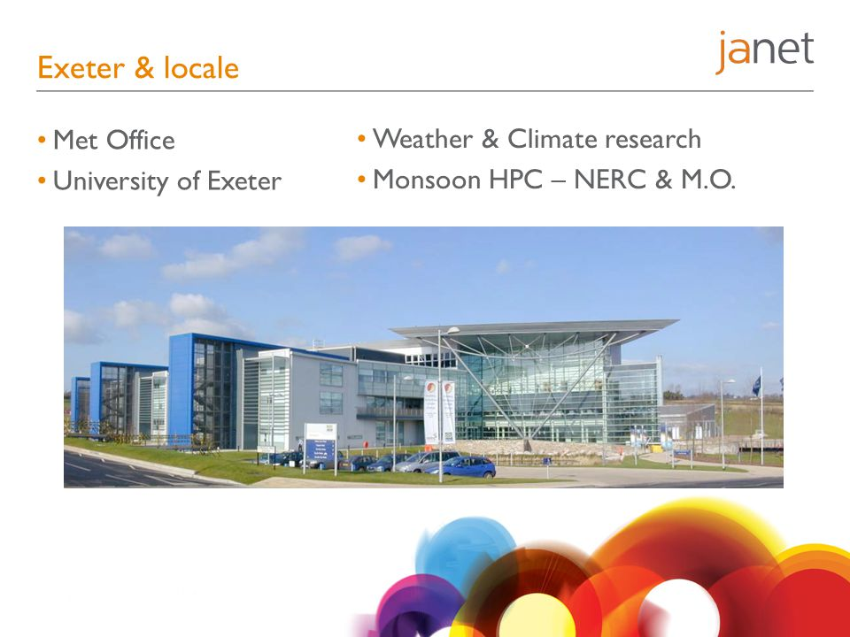 Exeter & locale Met Office University of Exeter Weather & Climate research Monsoon HPC – NERC & M.O.