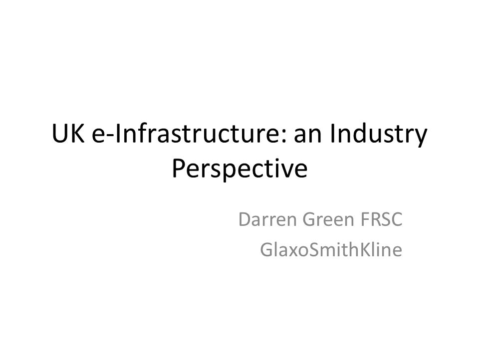 UK e-infrastructure Leadership Council