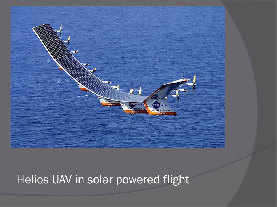 Helios UAV in solar powered flight