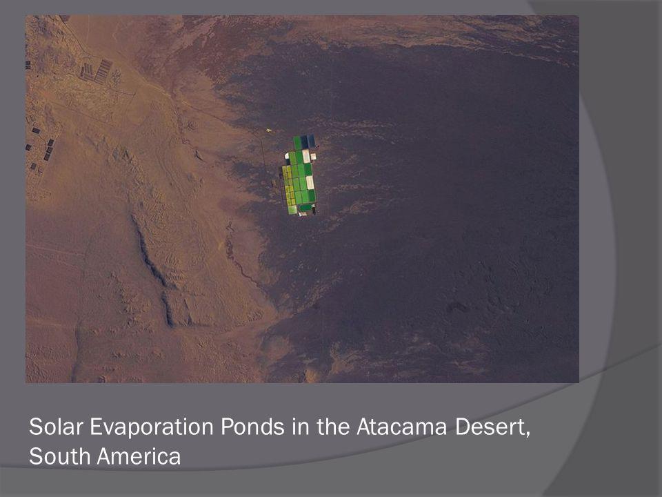 Solar Evaporation Ponds in the Atacama Desert, South America