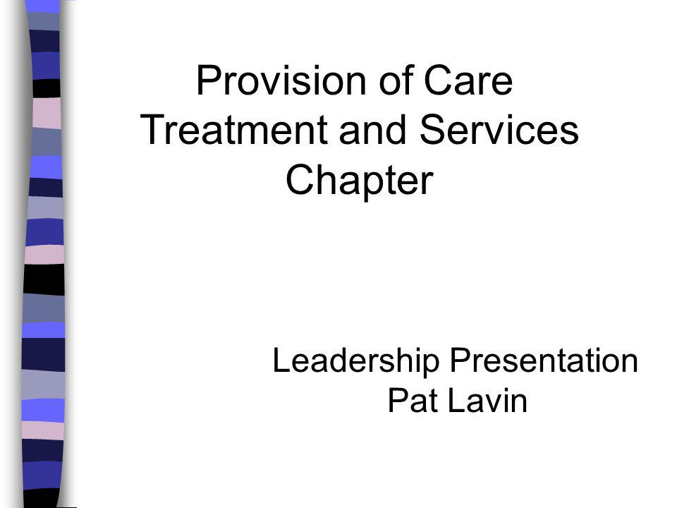 Provision of Care Treatment and Services Chapter Leadership Presentation Pat Lavin