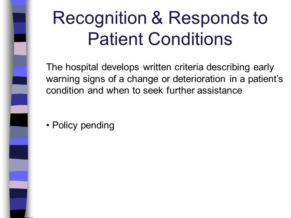 Handoff Communication The process of handoff communication provides for the opportunity for discussion between the giver and receiver of patient information Update policy to reflect policy regarding break handoffs and review policy with staff.