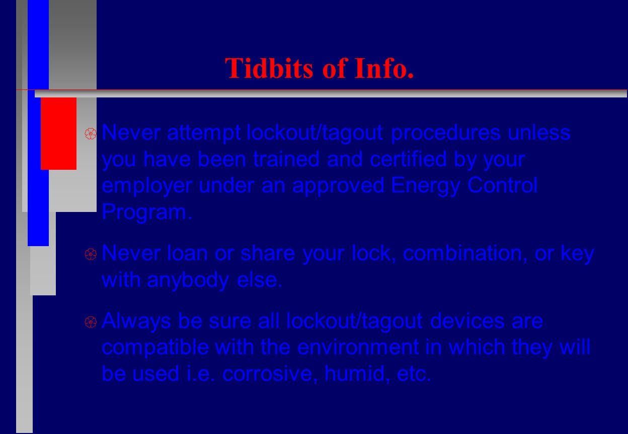 Tidbits of Info.